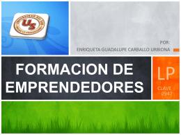 FORMACION DE EMPRENDEDORES.