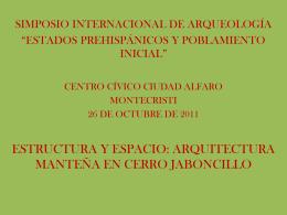 Richard Lunnis - proyecto arqueológico Hojas