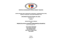 Presentacion Proyecto REgion Atlantica