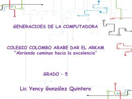 GENERACIOES DE LA COMPUTADORA