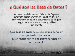 Qué son las Base de Datos