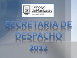 Presentación - Concejo de Manizales