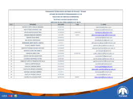 base docentes iip201.. - Fundación Tecnológica Antonio de Arévalo