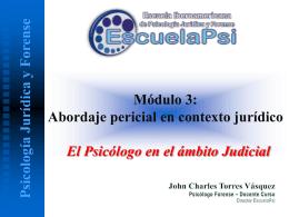 psicólogo forense - Escuela Iberoamericana de Psicología Jurídica