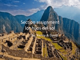 Section assignment los hijos