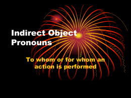 Indefinite Object Pronouns