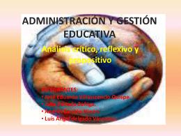 Administración y Gestión Educativa - CRUV-FIEC