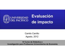4. La evaluación de Impacto