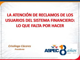 Diapositiva 1 - Asociación Peruana de Consumidores y Usuarios