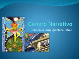 Genero Narrativo - Liceo Agricola Padre Francisco Napolitano