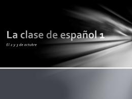 La clase de español 1