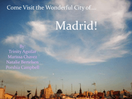 Spanish Powerpoint to Madrid