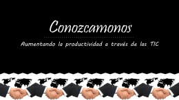 Conozcamonos - buga201406gr1