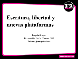 Escritura, libertad y nuevas plataformas