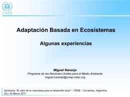 Adaptación Basada en los Ecosistemas