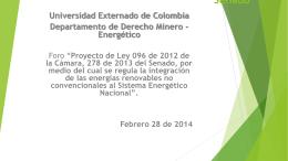 Ricardo Restrepo - Universidad Externado de Colombia