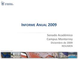 InformeSenado2009 - Tecnológico de Monterrey