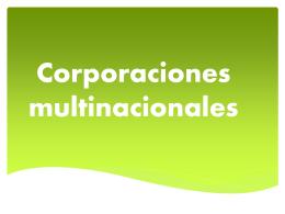 Corporaciones multinacionales