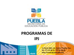 Programas de IPJ - Puebla Participa