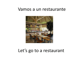 Let*s go to a restaurant