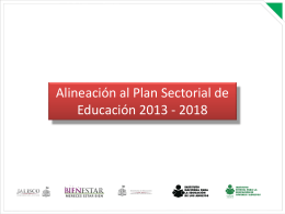 Alineación al Programa Sectorial