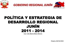 DesarrolloRegional - Gobierno Regional de Junín