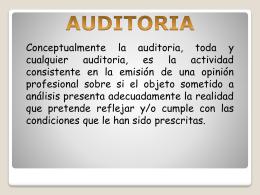 1. clase de auditoria.