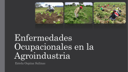 Enfermedades Ocupacionales en la Agroindustria: (ver