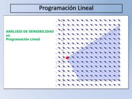 ANÁLISIS DE SENSIBILIDAD en Programación Lineal