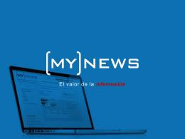 presentación del director general de MyNews