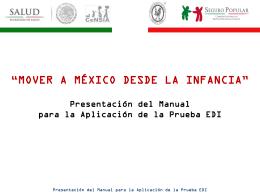 Manual para la aplicación - Hospital Infantil de México Federico