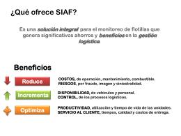 ¿Qué es SIAF?