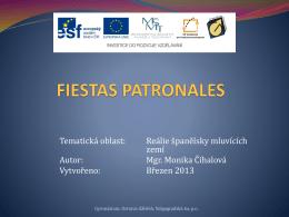 fiestas patronales - Gymnázium Volgogradská 6a