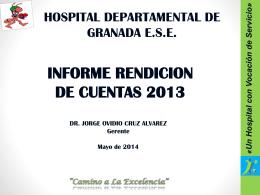 Presentación de PowerPoint - Hospital Departamental de Granada