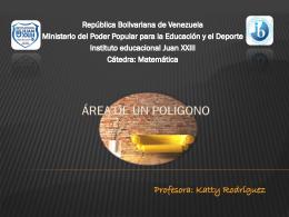 Área de un polígono - Instituto Educacional Juan XXIII