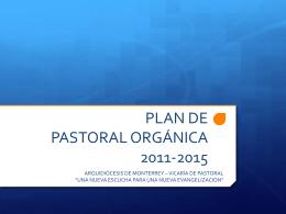 Resumen del Plan de Pastoral (Primera versión)