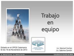 Lic. Sabrina Carrión Consultoras en Gestión de RRHH