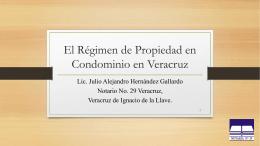 El Régimen en Propiedad en Condominio en Veracruz