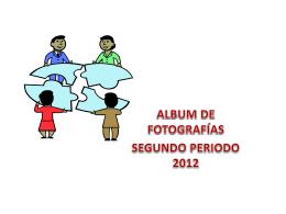 Álbum de fotografías segundo periodo