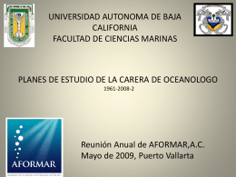 PLAN-OCEANOLOGIA UABC - Facultad de Ciencias Marinas