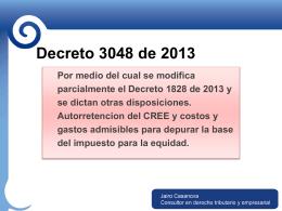 DECRETO NÚMERO 3048 de 2013