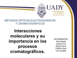Interacciones moleculares y su importancia en los procesos