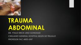 TRAUMA ABDOMINAL CURSO DE EMVERGENCIAS CMP
