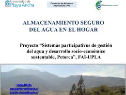 Presentación Charla Petorca (6 Marzo)