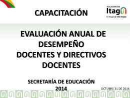 evaluación de desempeño docente y directivo docente.