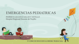 EMERGENCIAS PEDIATRICAS