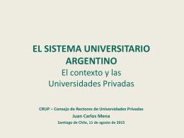 Sistema Universitario Argentino Juan C Mena 2015-08-11