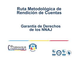 Ruta Metodológica Rendición de Cuentas Cundinamarca.