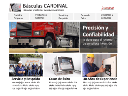 Descargar - Básculas Cardinal - Básculas y Sistemas para