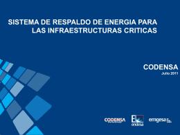 Energía para las infraestructuras criticas